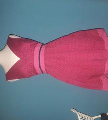 Pink pöttyös ruha
