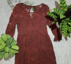 Bordó csipkés ruha