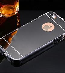 ÚJ! Fekete tükrös iPhone 5/SE kemény tok