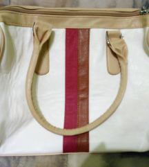 Fehér, mintás táska