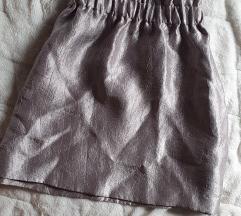 Ezüst csillogó h&m paperbag szoknya