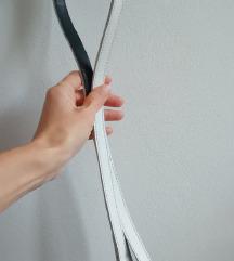 ANDURIL WHITE / Bőr póráz (fekete-fehér)