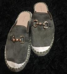 Velúr papucs cipő