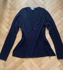 Fekete laza vékony pulcsi