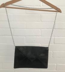Fekete műbőr boriték táska - H&M