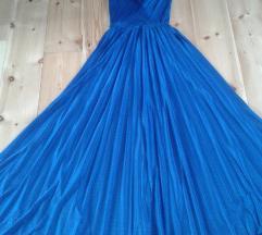 Alkalmi kék maxi ruha