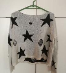 Kötött laza pulóver