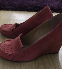 Valódi velúr bőr piros cipő