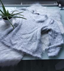 Fluffy pasztell pulcsi M/L