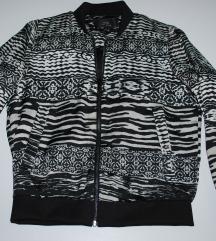 MANGO fekete-fehér dzseki, kabát ÚJ