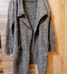 Cirmos, meleg, hosszú, kardigán kabát, One Size