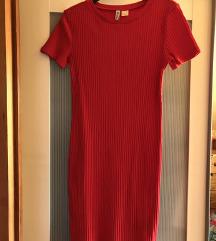 H&M bordás simuló ruha