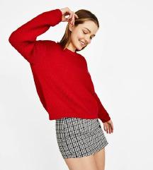 Új ZARA piros pulóver