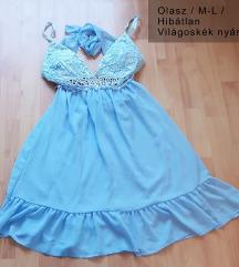 Gyönyörű olasz kék nyári ruha