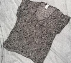 zebra mintás áttetsző felső