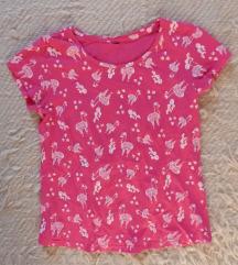 Rózsaszín póló láma mintával