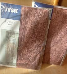 jysk rózsaszín/mályva színű zsinórfüggöny 2db Új