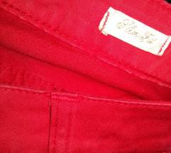 Piros slim fit nadrág