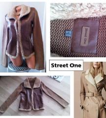 STREET ONE szőrmés bőr dzseki/kabátka/kardigán