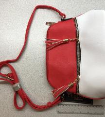 Vadi új, remek kialakítású piros-fehér nyári taska