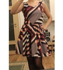 26. Lilás színes-csíkos INSTYLE ruha