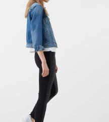Új, Mango bőrbetétes nadrág XL féláron