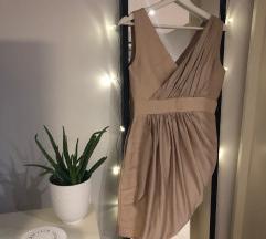 Alkalmi bézs színű ruha