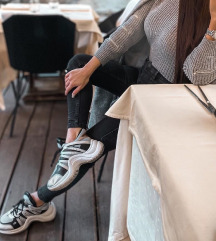Hibátlan | Rosegold Szürke Platform Sportcipő | 39