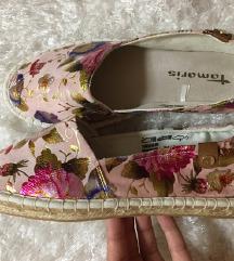 Tamaris virágos cipő