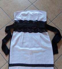 Fekete g fehér női ruha övvel