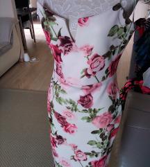 Virágos alkalmi ruha 38-40