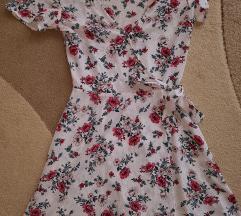 H&M fehér virágos nyári ruha