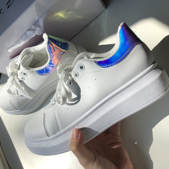 Hologramos platform cipő új ,40,41
