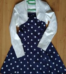 Pánt nélküli ruha + ajándék bolero