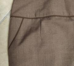 Orsay barna kockás business szövet ceruza szoknya