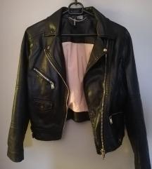 H&M fekete bőrkabát
