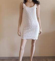H&M krémszínű mini ruha