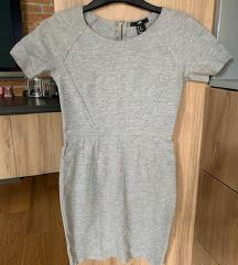 H&M világos szürke bodycon ruha miniruha