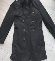 h&m fekete balon kabát elegáns tavaszi