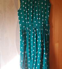 Zöld retro pöttyös nyári ruha