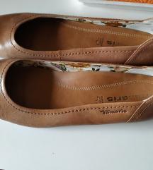 Tamaris bőr balerina 40 41 cipő