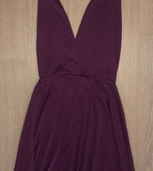 Variálható lila maxi ruha