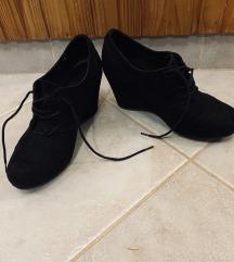 Velúr fekete cipő
