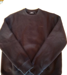 férfi kék pamut pulóver