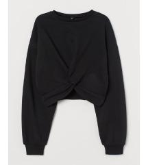 H&M csavart Csomós rövid pulóver pulcsi
