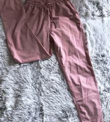 Púder színű paper bag nadrág