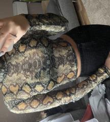 Kígyó mintás felső