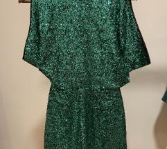 H&M 34 Zöld flitteres ruha