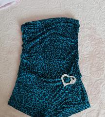 Kék leopárdmintás ruha
