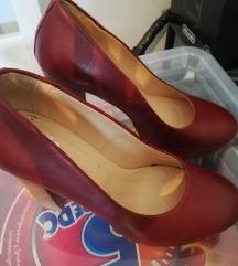 Magassarkú platform cipő bordó HUMANIC